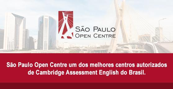 São Paulo Open Centre um dos melhores centros autorizados de Cambridge Assessment English do Brasil